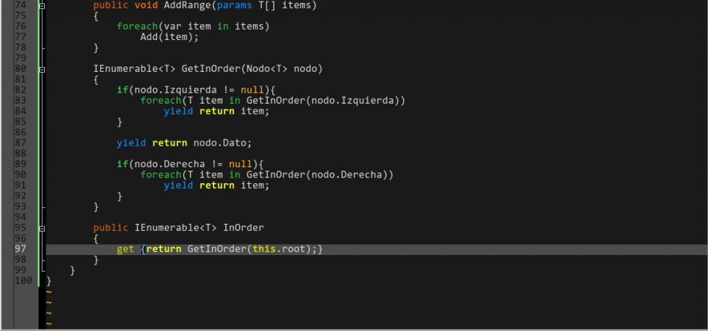 Editando código